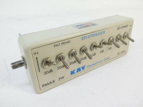 Kay Elemetrics 839 Attenuator 50 Ohms DC 2 GHz 101 dB Step