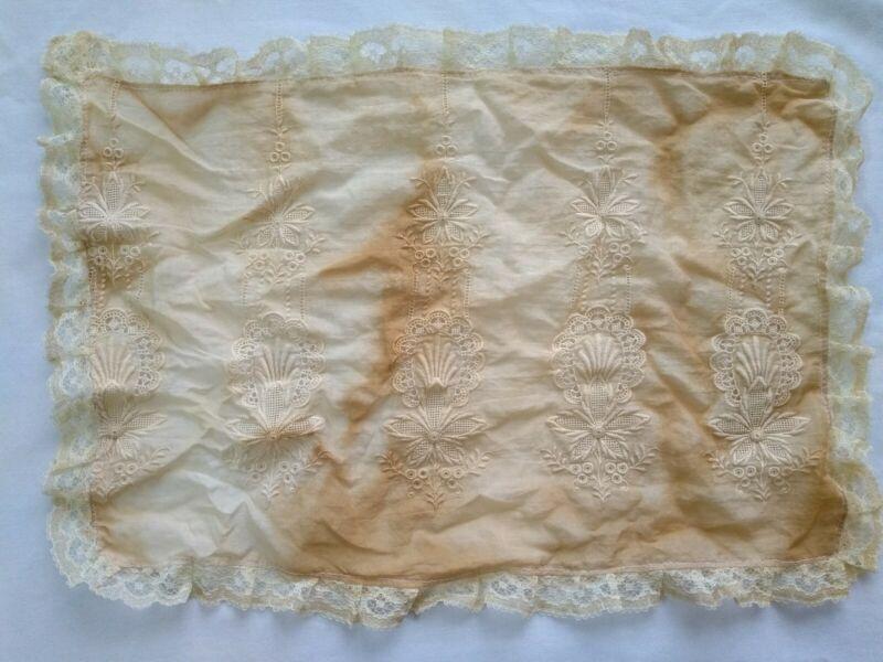 Embroidered Doily Repurposed Antique Victorian Petticoat Lace Trim