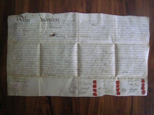 1796 INDENTURE on VELLUM, 12 WAX SEALS..Phila. PA...15 Signtures..24
