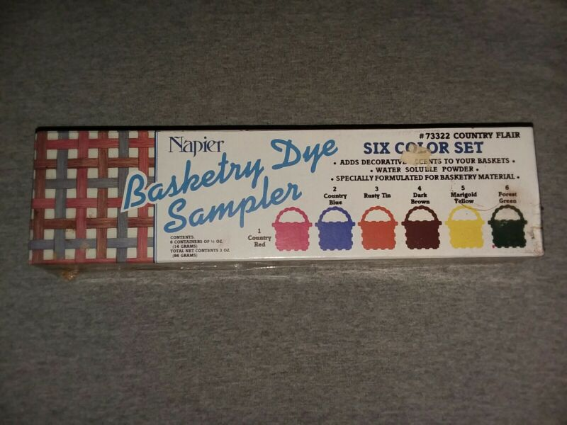 Napier Basketry Dye Sampler 6 Colors Country Flair Multi Use New Sealed