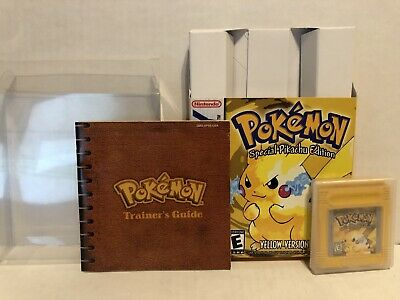 Nintendo Gameboy Pokemon Yellow Version With Manual And Box Authentic Game