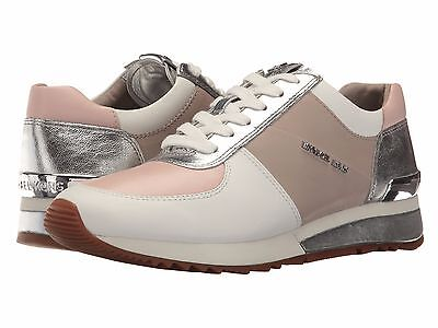 Michael KORS ALLIE Cement Soft Pink Silver Logo Trainer Sneakers I LOVE SHOES