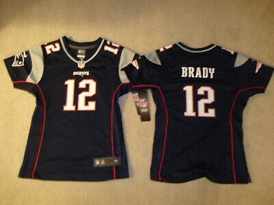 Tom Brady Girls Youth Size Small 7 8 Navy New England Patriots Team Jersey  NIKE! a7d8af3b8