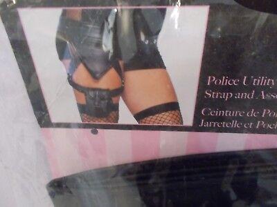 New Leg Avenue Police Utility Belt With Garter Leg Strap One (Kostüm Utility Belt)