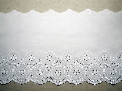 "14yds Embroidery cotton ribbon eyelet lace trim 1/"" white YH1317 laceking2013"