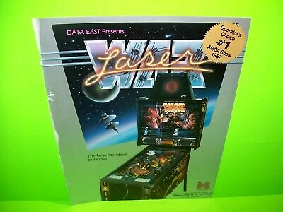 Data East LASER WAR Arcade Pinball Machine Pull Out Trade Magazine Ad Space Age