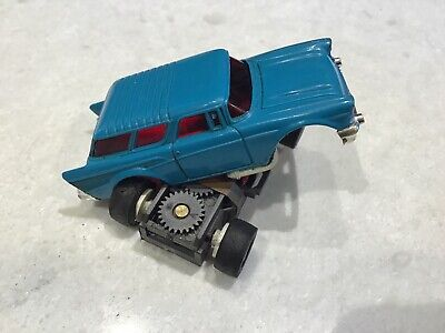 $1-7 Day MEDIUM BLUE Aurora AFX Chevy NOMAD Non Magna Traction HO Slot Car NICE!