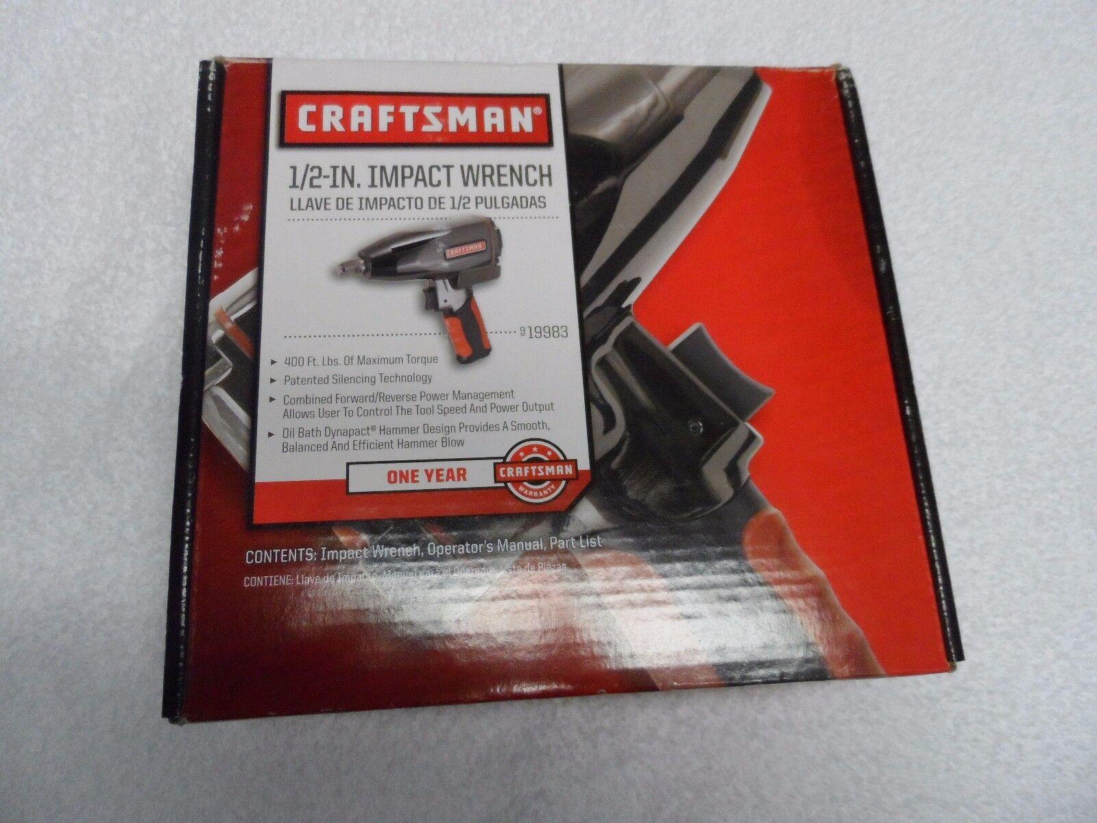 "Craftsman 1/2"" Drive Pneumatic Impact Wrench - Part # 19983"