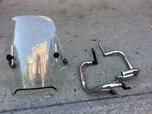 Crash bar Honda CX500 chrome + fairing parebrise windshield