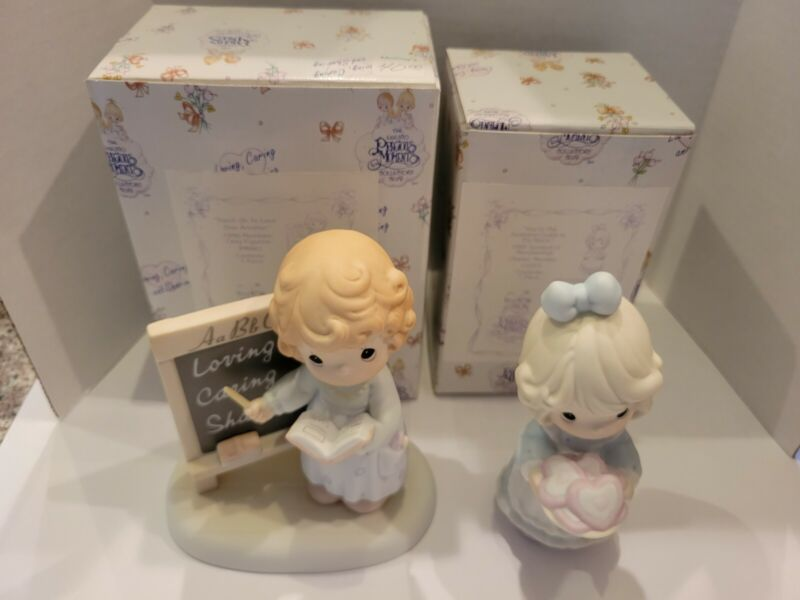 Precious Moments Lot of 2 1995 and 1996 Members Only Figurines