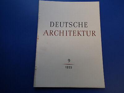 DDR Zeitschrift- Deutsche Architektur 9/1955-Ludwigsfelde-Leipzig-Dresden- g.Zus