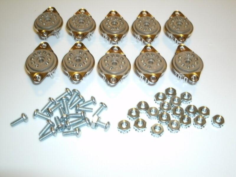 Bottom Mount 12AX7 12AT7 12AU7 EL84 Belton 9 Pin Miniature Vacuum Tube Socket