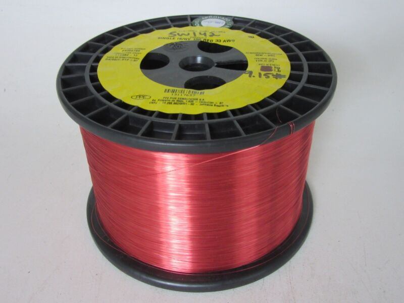 33 AWG  9.15 lbs.   PPE Invesold 155 Enamel Coated Copper Magnet Wire
