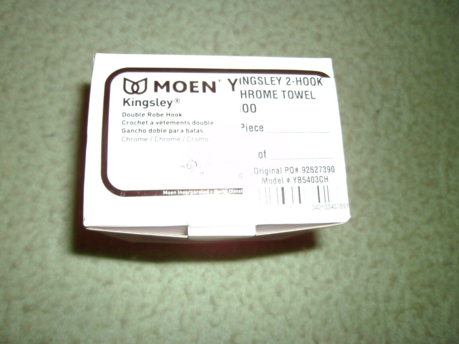 MOEN Kingsley Double Robe Hook in Chrome YB5403CH - New