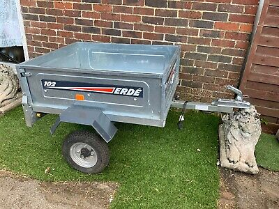 Erde 102 Car Camping Tipping Trailer + Cover +