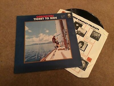 The Carpenters LP 'Ticket to Ride'