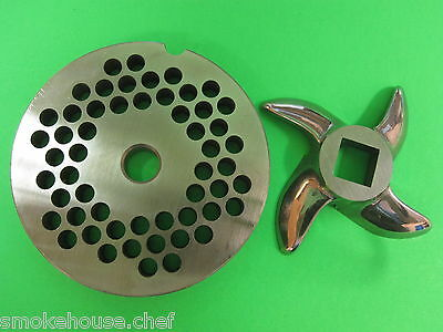 22 X 14 Meat Grinder Plate Knife Stainless Fits Hobart Tor-rey Lem More