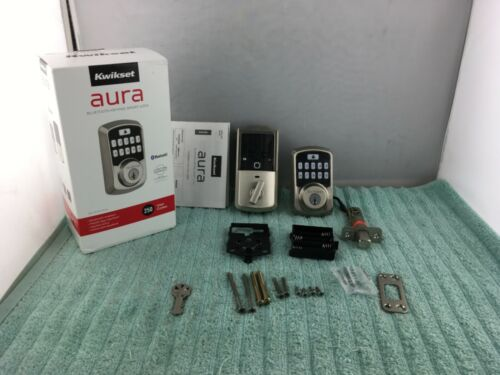 Kwikset Aura Bluetooth Keypad Smart Lock Deadbolt Satin Nickel (99420-001)- USED