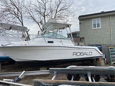 2000 Robalo 2640 walk around cc boat twin 225 efi mercury outboards