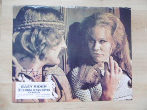 "Dennis Hopper Autogramm signed 23x30 cm Kinoaushangbild ""Easy Rider"""