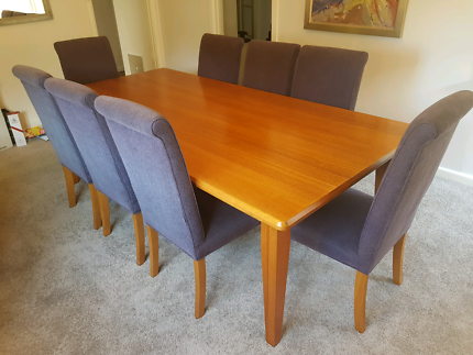 3 Piece Wooden Furniture Set Dining Table 2 Units