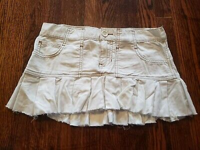 Abercrombie & Fitch Women's Skirt Mini Pleated Off-White 00 Unlined Pleats Unlined Skirt