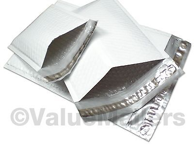 100 Poly 1 7.25x12 Bubble Mailers Padded Envelopes Airjacket Brand