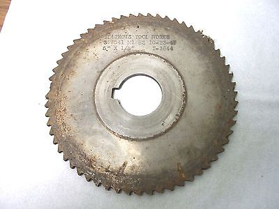 Used Milling Cutter 4 38 X 18  X 1 Saw Slotting. Itw 377041 M1 Hs T3844