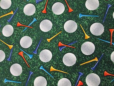 GOLF BALLS COLORED TEES COTTON FABRIC FQ (Kids Golf Costume)