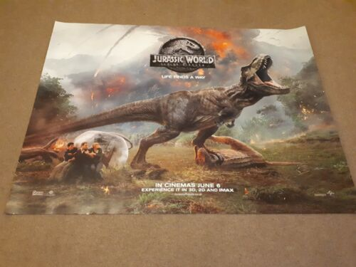 Jurassic world Fallen Kingdom UK Cinema Quad Poster d/s full size Pratt V3