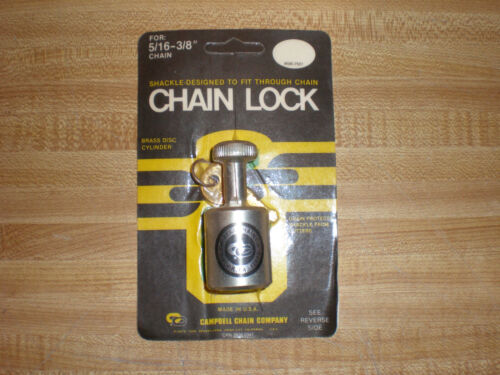 VINTAGE CHAIN LOCK for 5/16 - 3/8 CHAIN CAMPBELL CHAIN COMPANY NEW OLD STOCK