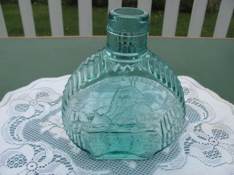 Clevenger Bros Glass 50 Year Commemorative Champlain Valley Savings Bottle Bank