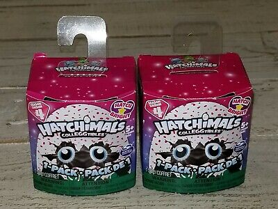 New! Lot of 2 Hatchimals Colleggtibles Hatch Bright Mystery Pack - Season 4 NIB!