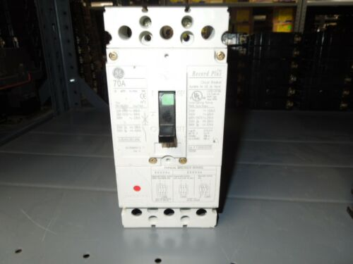 Ge Record Plus Fcv36te070r 70a 3p 600v Circuit Breaker Used