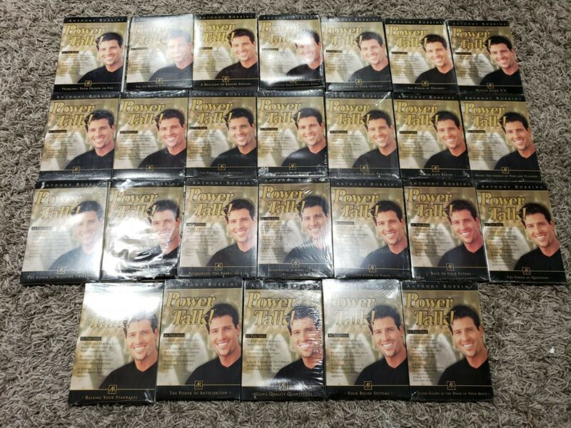 Lot Of 26 Anthony Robbins Power Talk Issues  Powerful Ideas Motivation Audio CDs