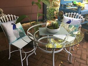 Outdoor wrought iron table setting Greenwood Joondalup Area Preview
