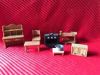 Doll House Room Furniture Lot  Epoch Calico Critters Critter House Room Furniture