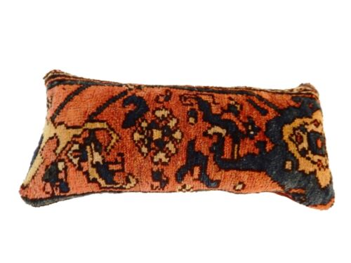 "19th Custom Made Antique Lumbar Malayer Pillow 16."" w"