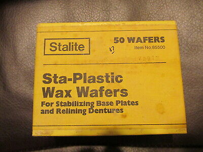 Stalite Sta-plastic Wax Wafers For Stabilizing Base Plates And Relining Dentures