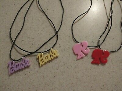 Barbie Jewelry Giirls Charm Necklaces- Barbie Name & Face Profile Party Favors - Barbie Party Favors
