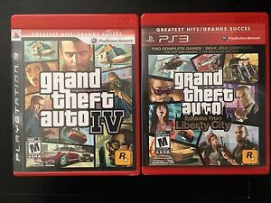 PS3 Games Grand Theft Auto IV and Liberty City (Clayton Park)