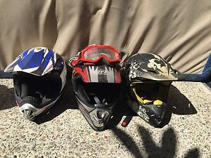 3 x motorbike helmets Charlestown Lake Macquarie Area Preview