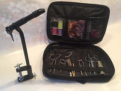 FLY TYING TOOL KIT, AA FLY TYING VICE, FLY TYING TOOLS X11 & FLY TYING MATERIALS