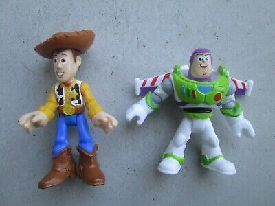 2018 Imaginext Toy Story 4 Buzzlight Year & Woody Figures