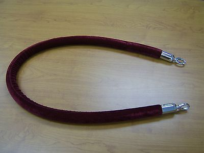 Stanchion Rope Velour Burgundy With Pol Chrome Hks 5