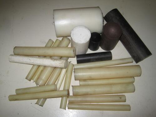 Large lot of DELRIN PVC Nylon machinable plastic stock VARIOUS SIZES