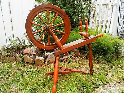 """GREAT Small Antique Wooden Spinning Wheel 32"""" Height"""