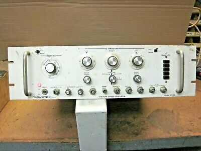 Wavetek Vhf Uhf Sweep Generator Model 172a Untested Used Light Up Loc. G-15