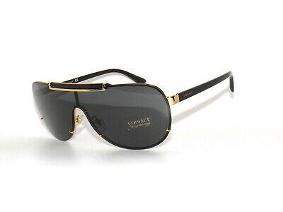 Versace 2140 1002/87 Black Gold Gray Sunglasses