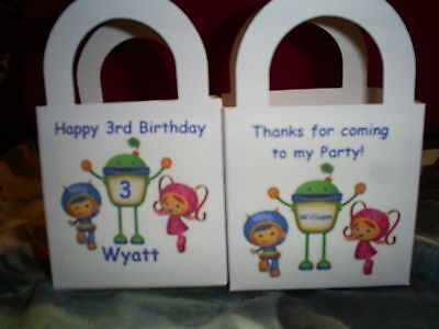 Team UmiZoomi Birthday Party pack 12 Favor Boxes Free Personalization - Umizoomi Party Supplies